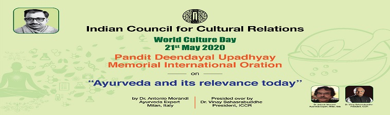 Celebration of World Cultural Day 21 May 2020 at 3 PM