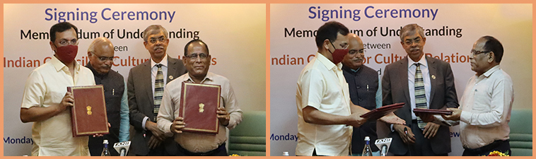 Memorandum of Understanding (MoU) signing ceremony between Indian Council For Cultural Relations and University of Delhi